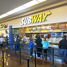 Subway located within the Seattle Premium Outlets at Quil Ceda Village