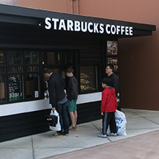 Starbucks Coffee Stand located within the Seattle Premium Outlets at Quil Ceda Village